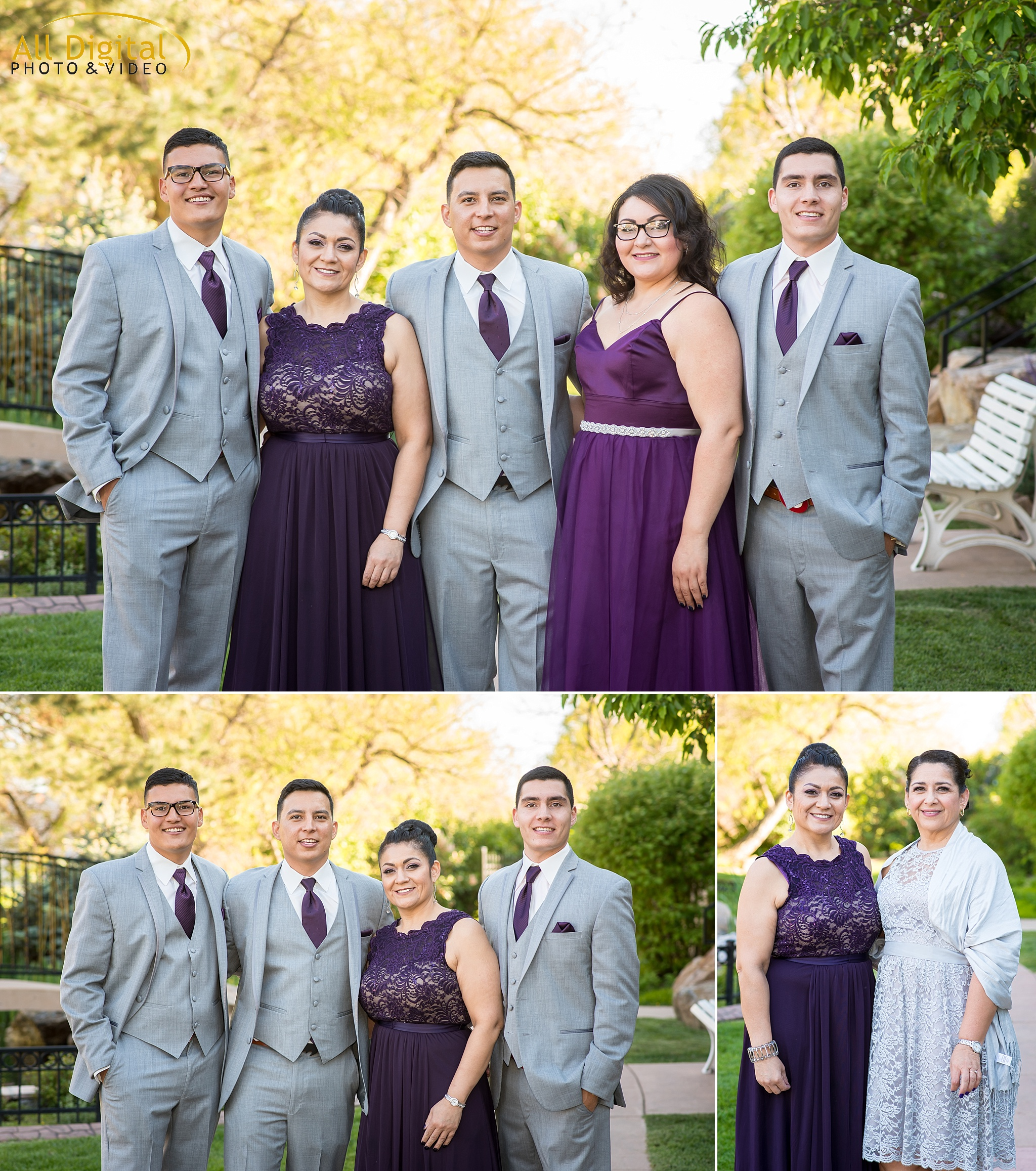 Groom & his family at Stonebrook Manor.