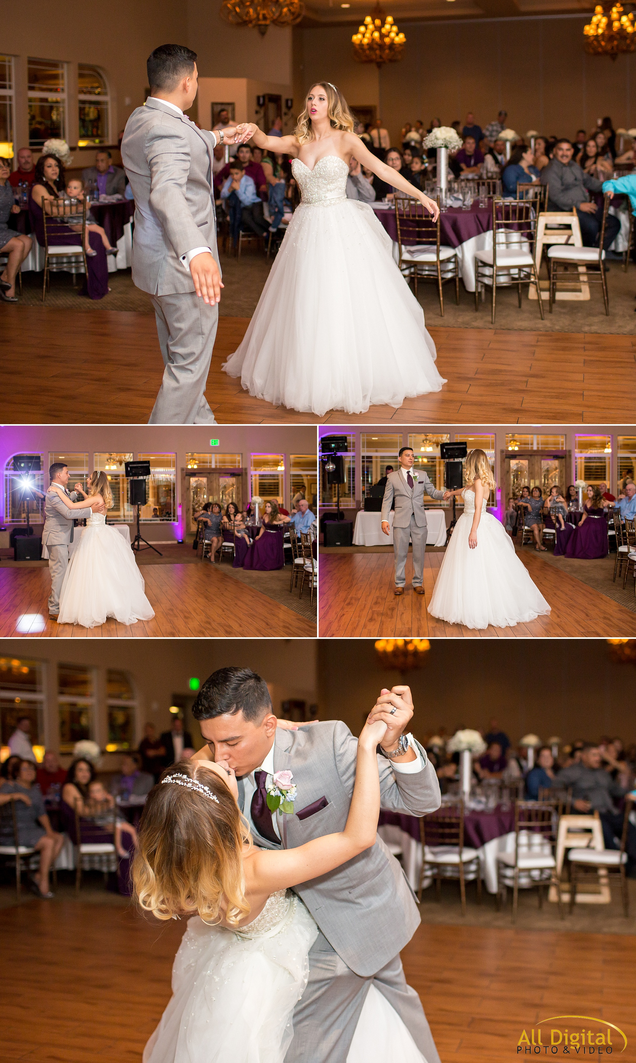 Bride & Groom first dance at Stonebrook Manor.