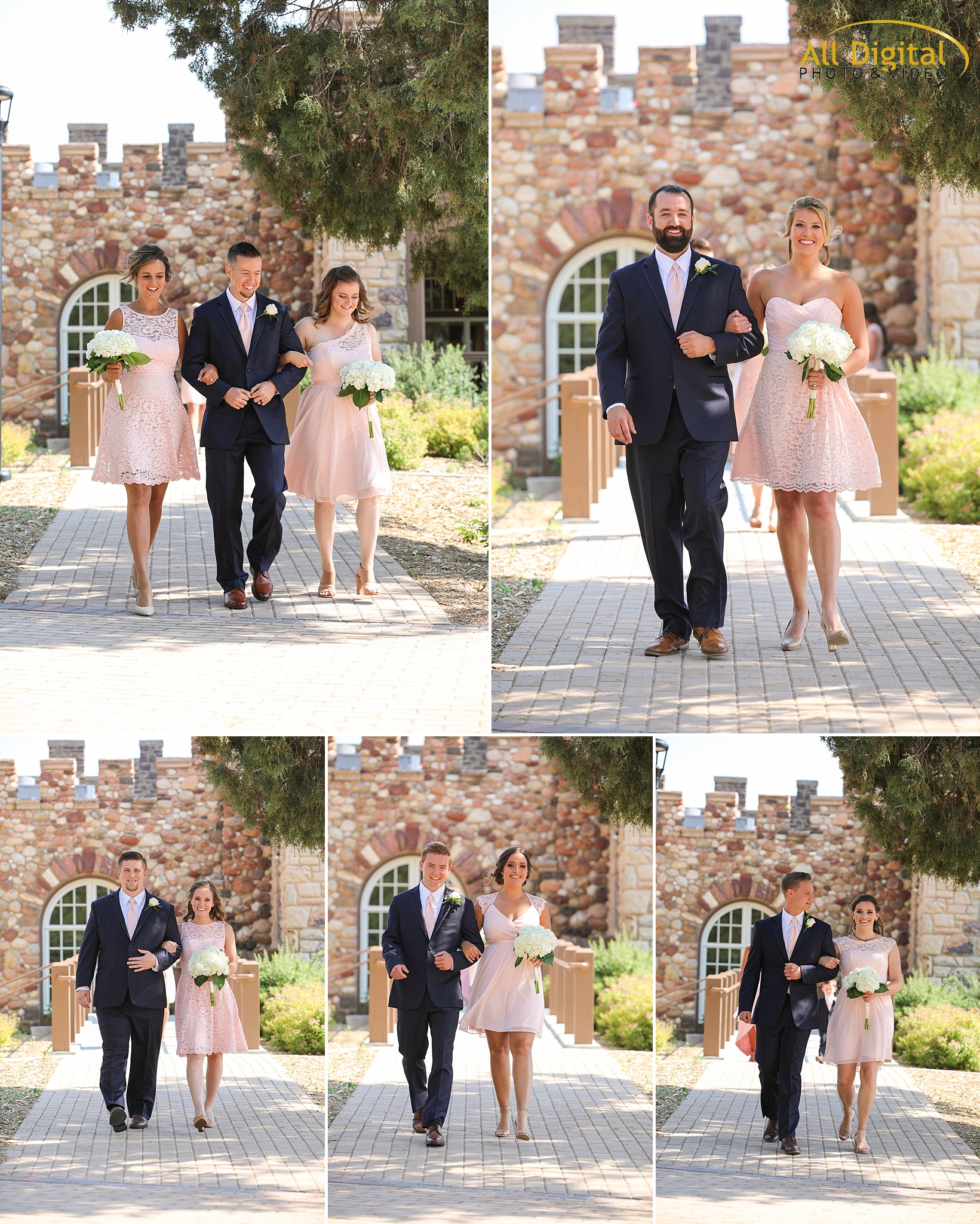 Bridal Party Procession at the Highlands Ranch Mansion