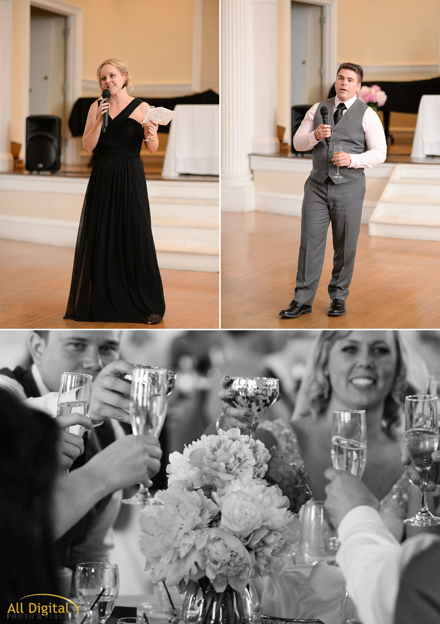 Best Man & Maid of Honor Speeches at the Stanley Hotel in Estes Park, Colorado.
