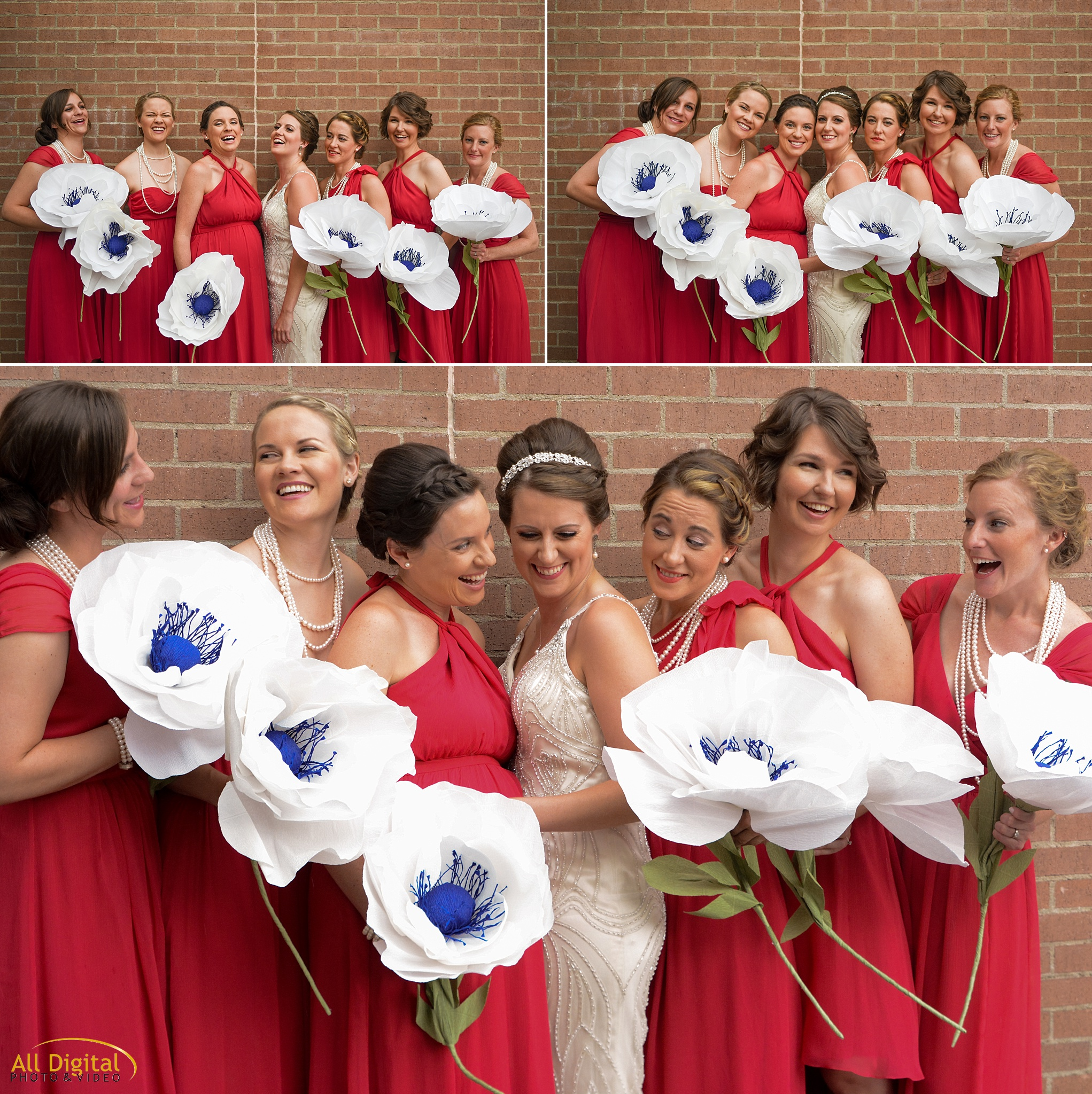 Mary & her Bridesmaids at the Golden Hotel photographed by All Digital Studios.