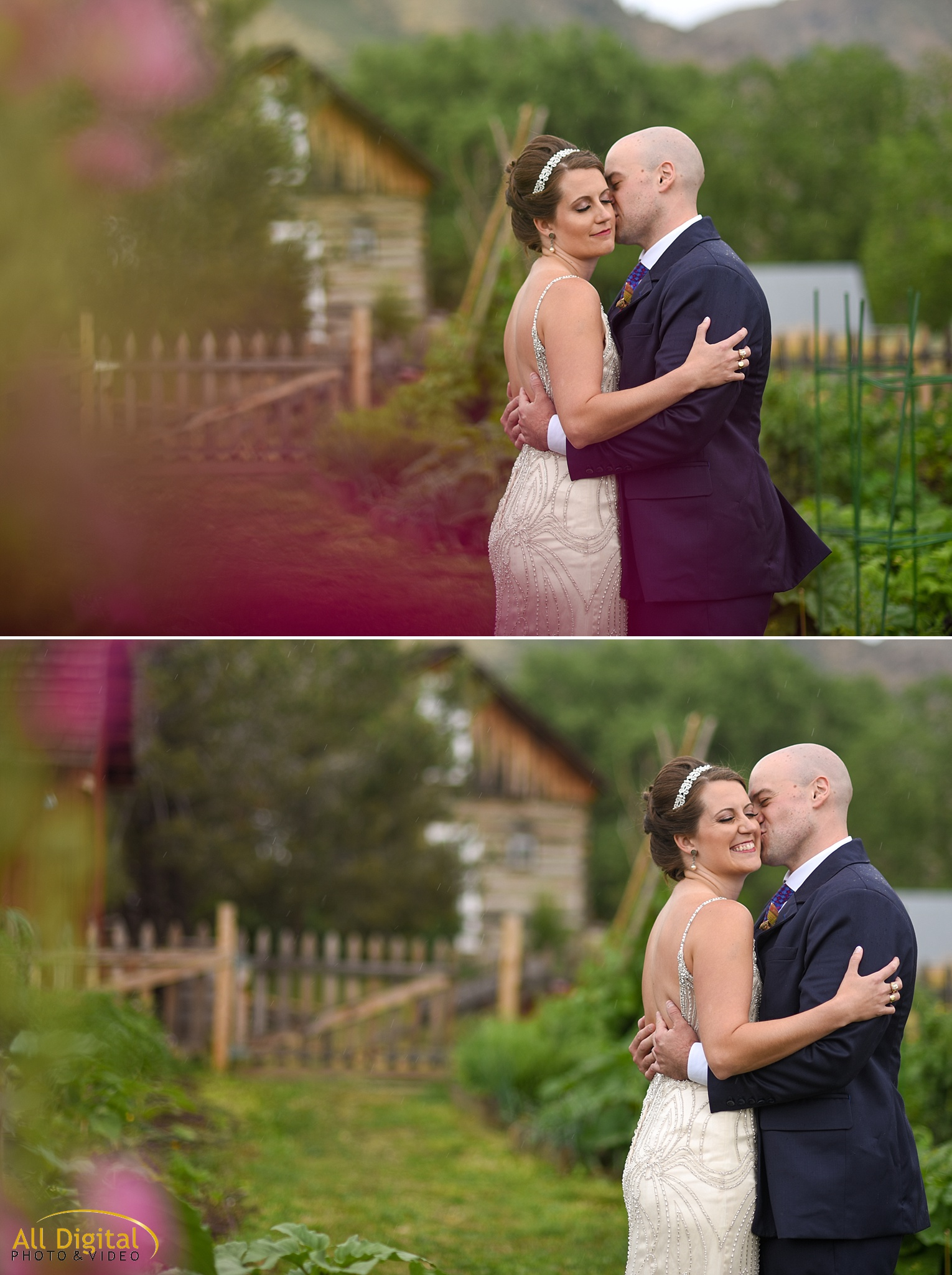 Mary & Jeremy's Romantic Portraits at Clear Creek History Park photographed by All Digital Studios.