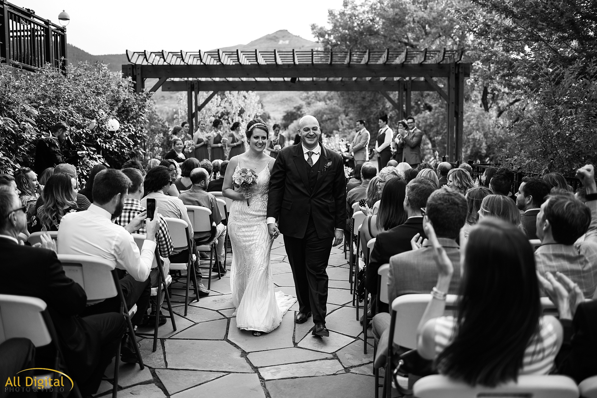 Mary & Jeremy's Recessional at the Golden Hotel photographed by All Digital Studios.