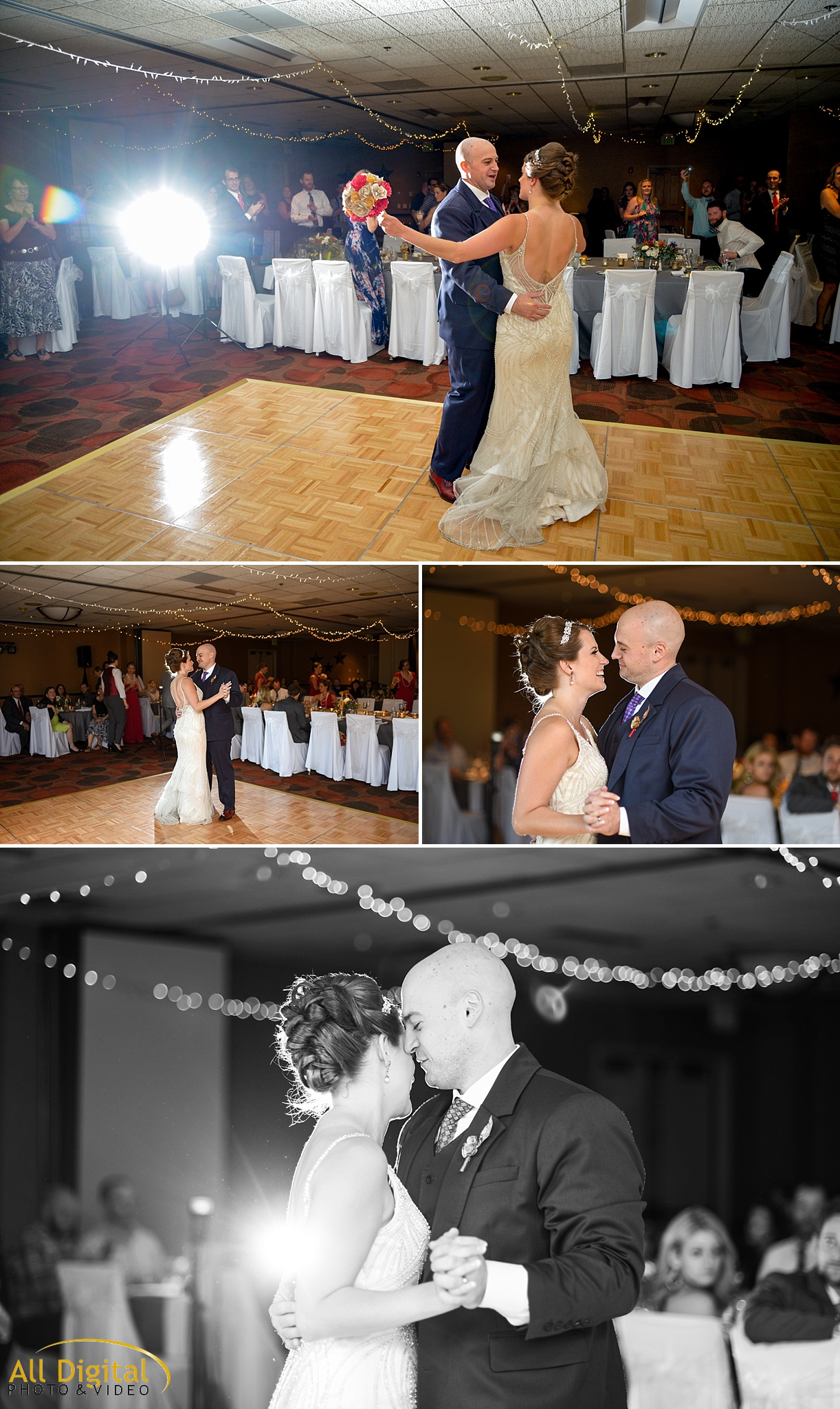 Mary & Jeremy's First Dance at the Golden Hotel photographed by All Digital Studios.