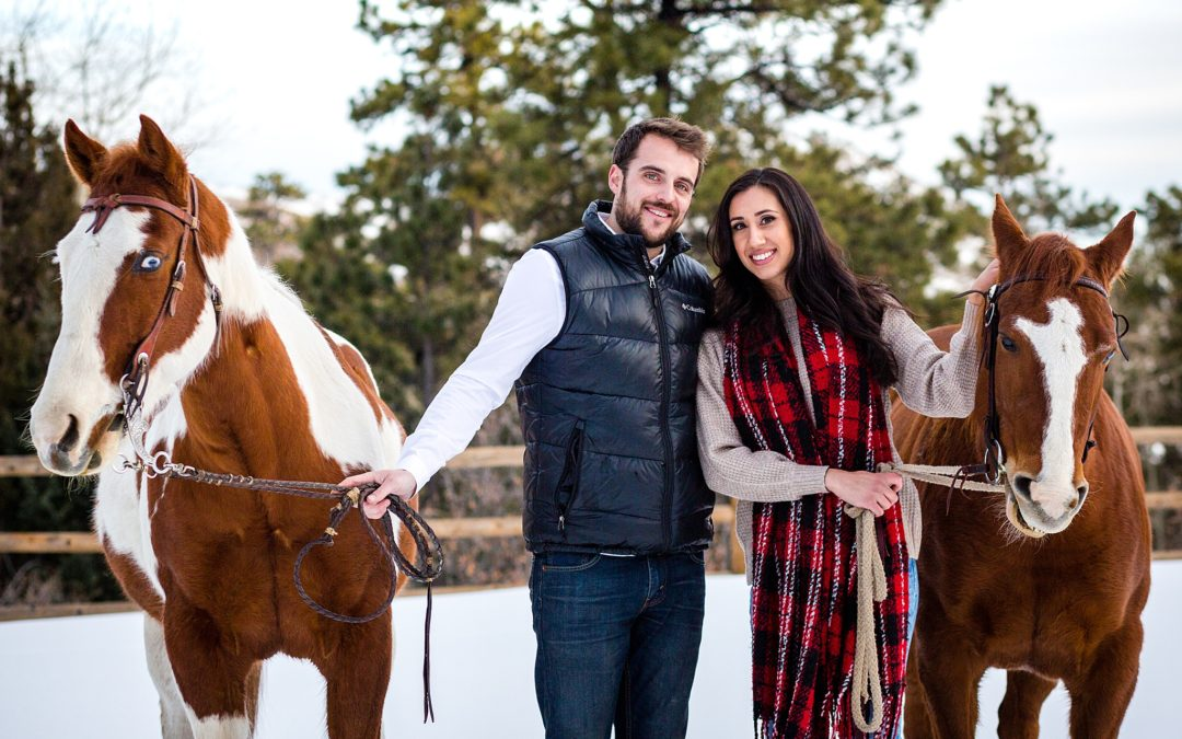 Michelle & Matt | Morrison Horse Engagement Session | Colorado Engagement Photography