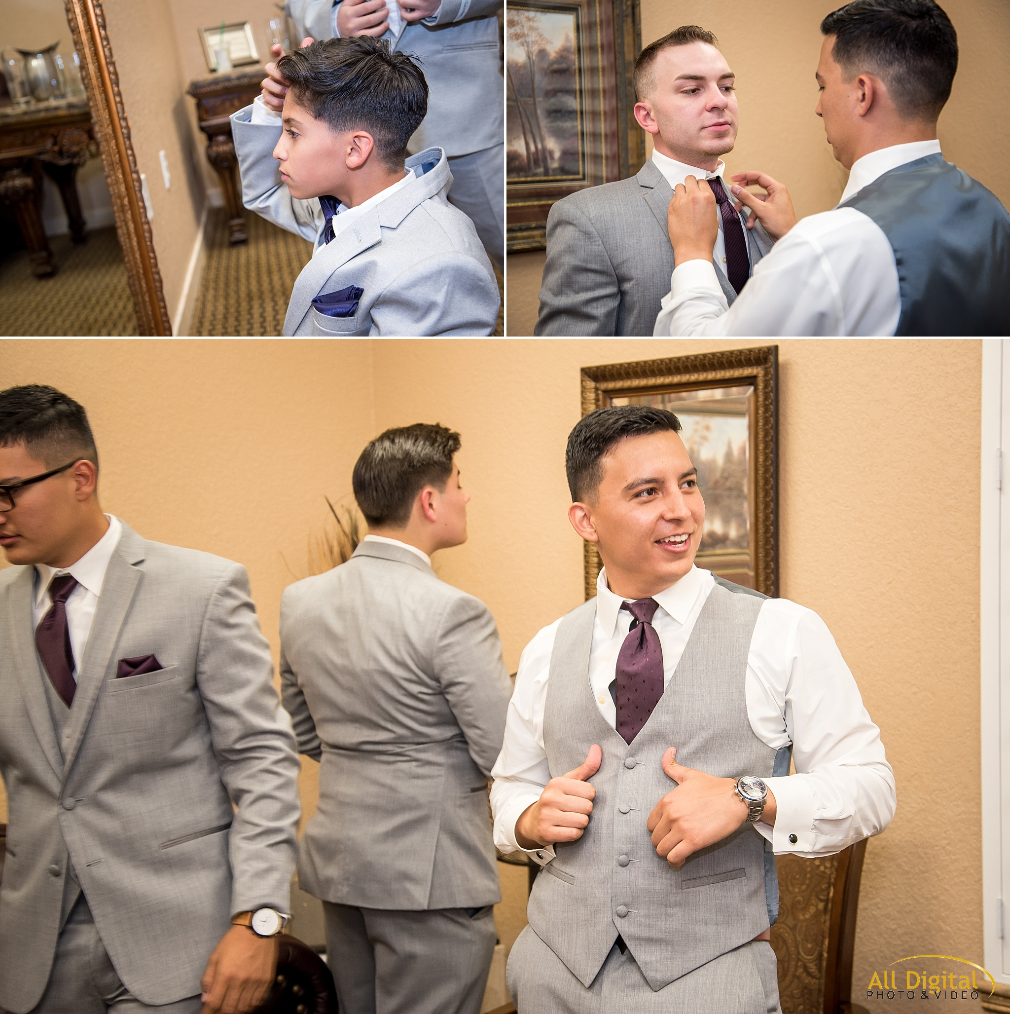 Anthony and his groomsmen getting ready at Stonebrook Manor.