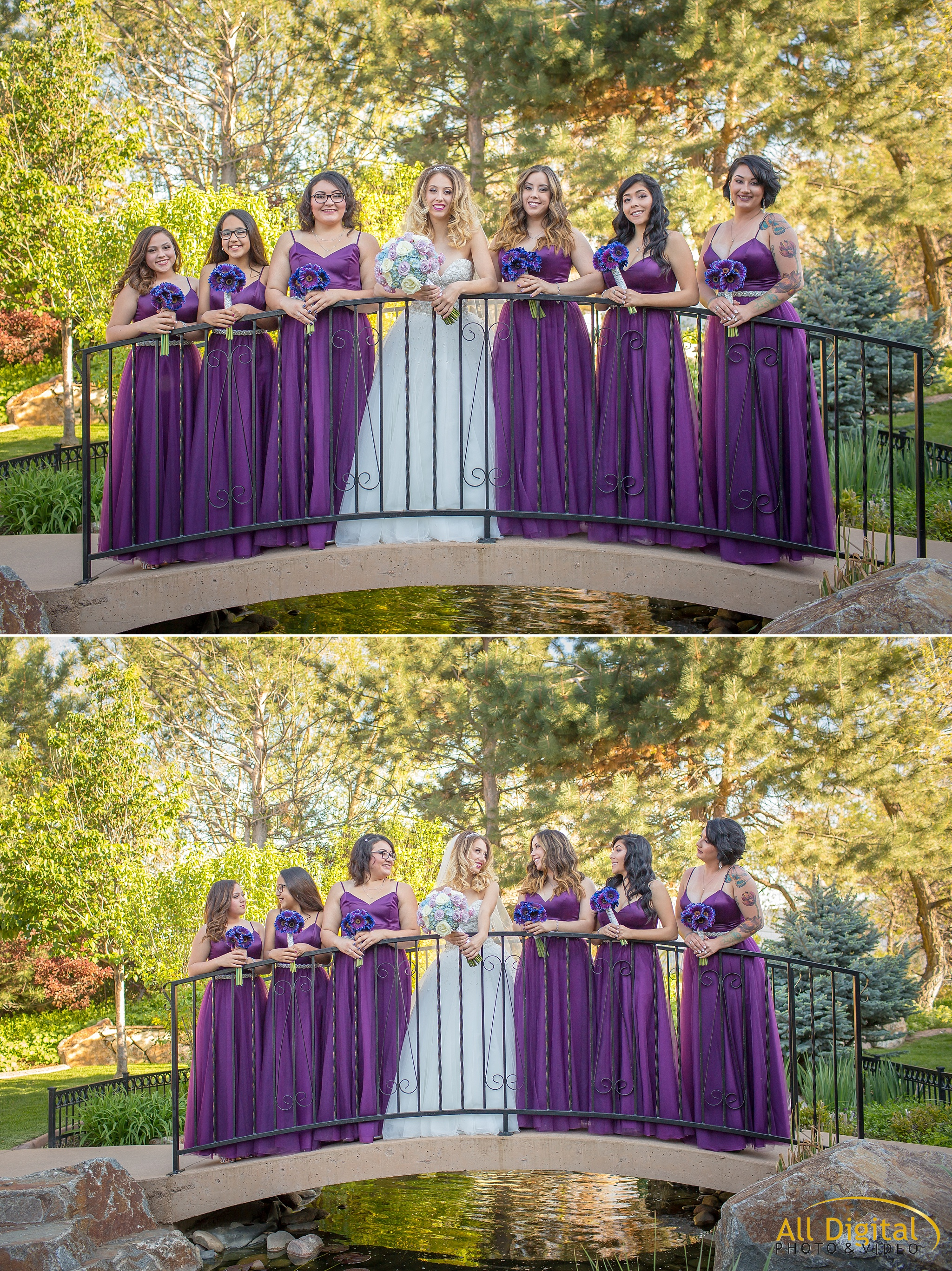 Bride and bridesmaid portraits at Stonebrook Manor.
