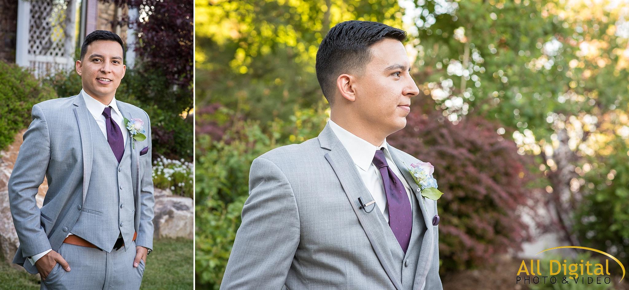 Groom portraits at Stonebrook Manor.