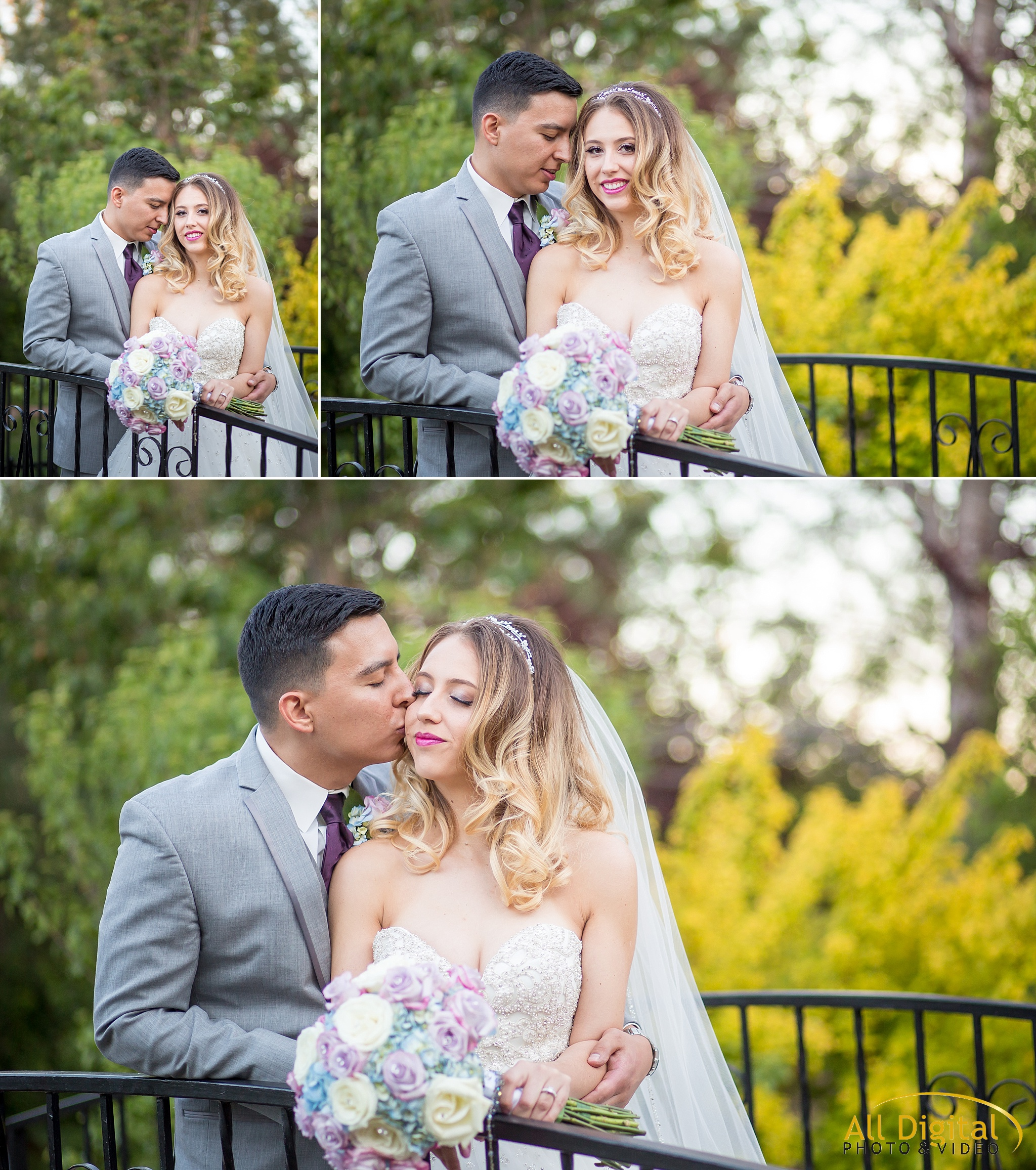 Bride & Groom romantic portraits at Stonebrook Manor.