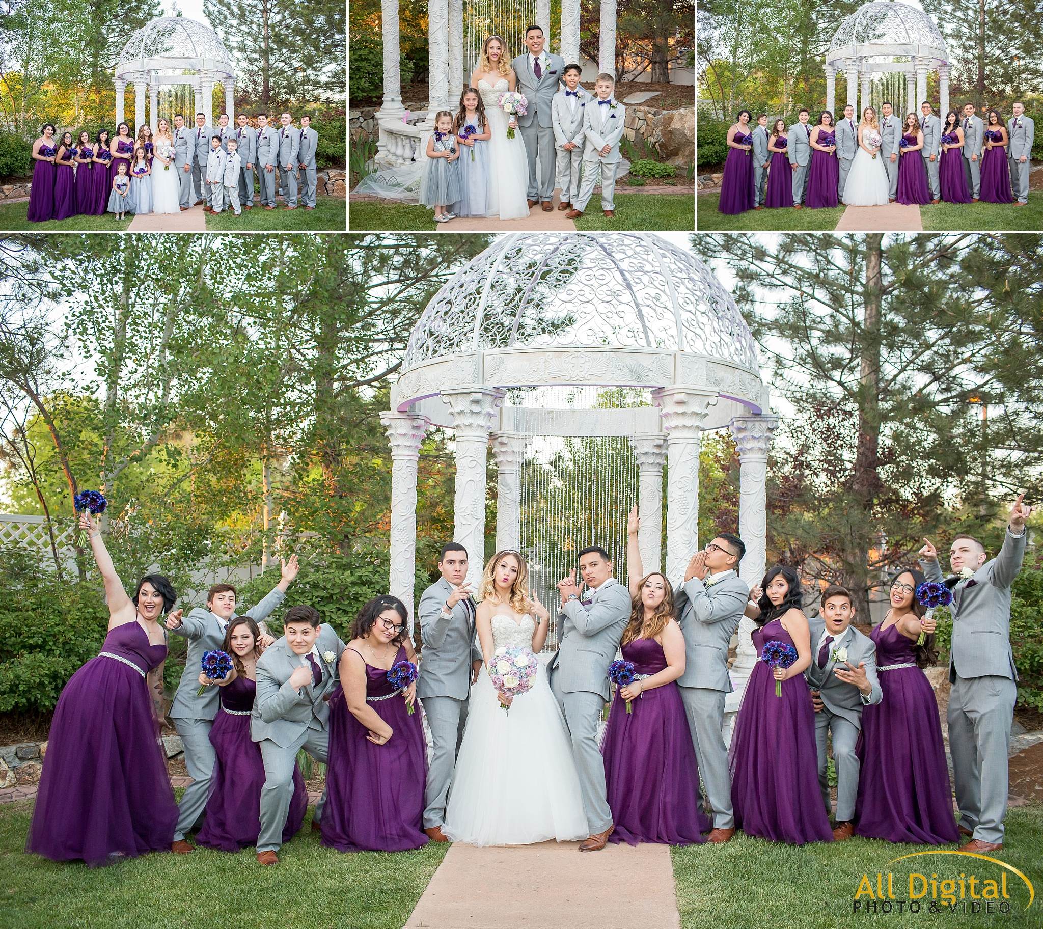 Bridal Party portraits at Stonebrook Manor.