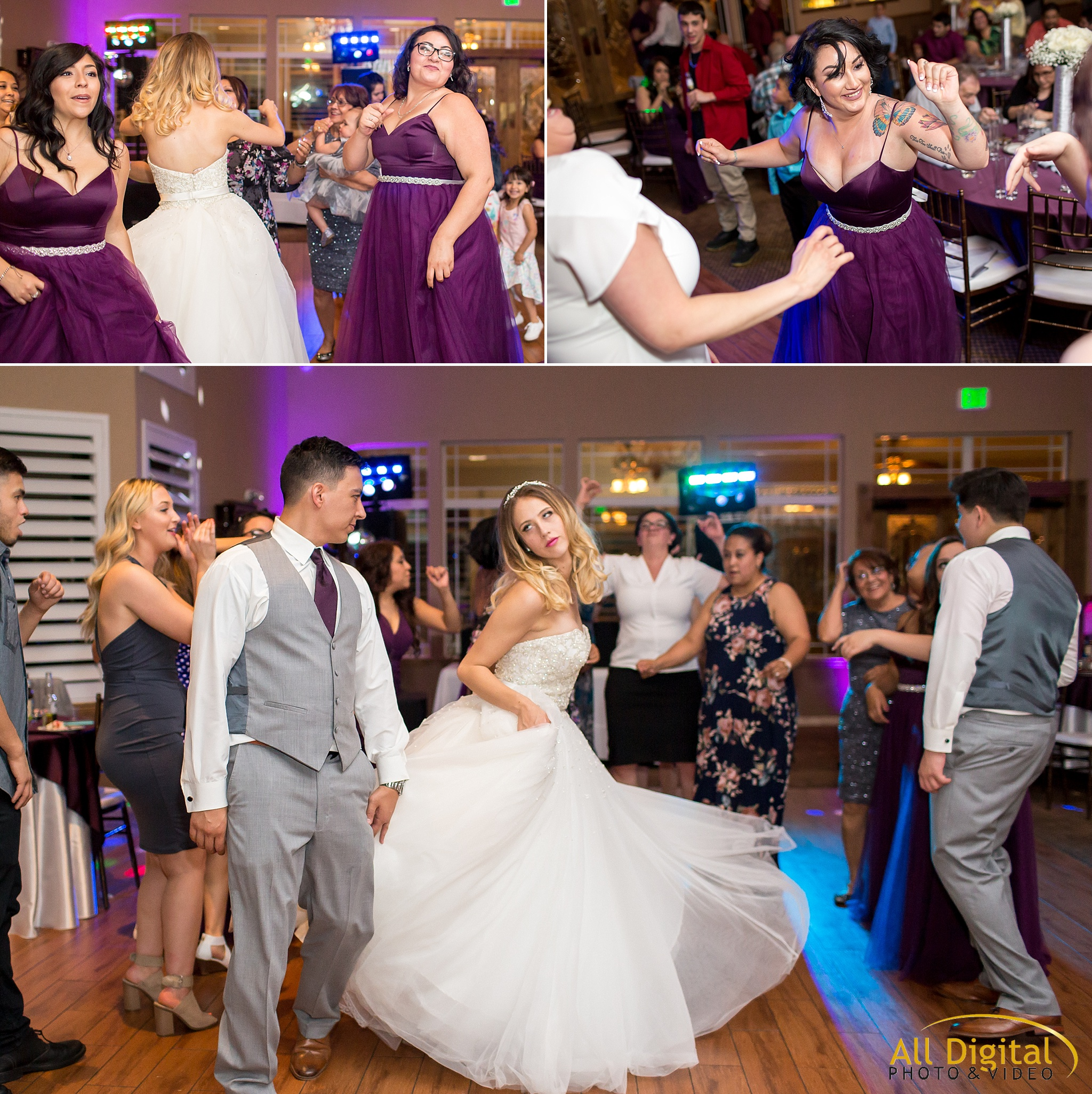 Guests dancing during the reception at Stonebrook Manor.