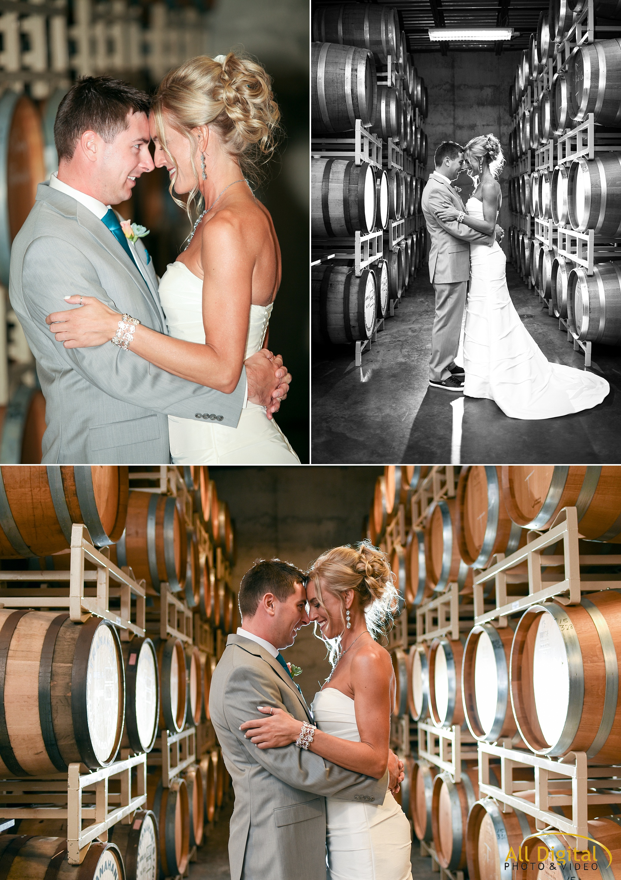 Bride & Groom romantic portraits at Balisteri Vineyards.