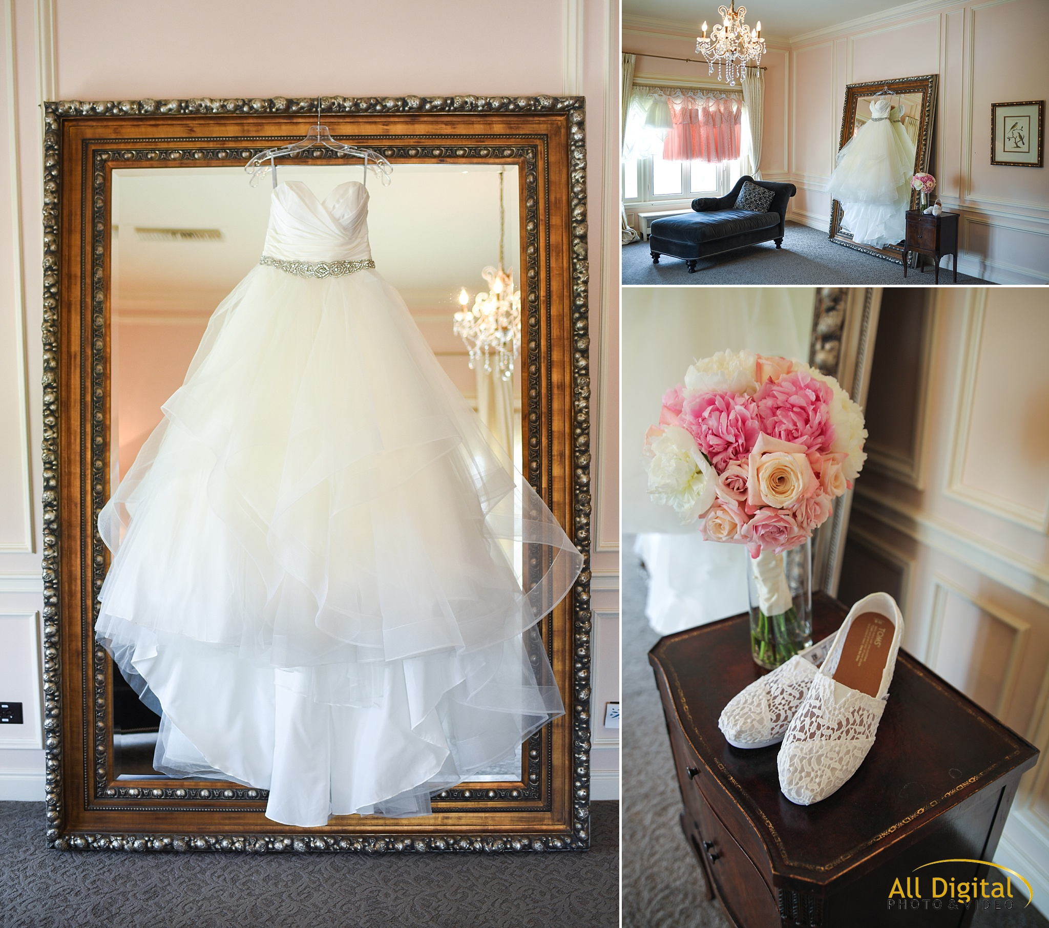 Bridal Suite Details at the Highlands Ranch Mansion
