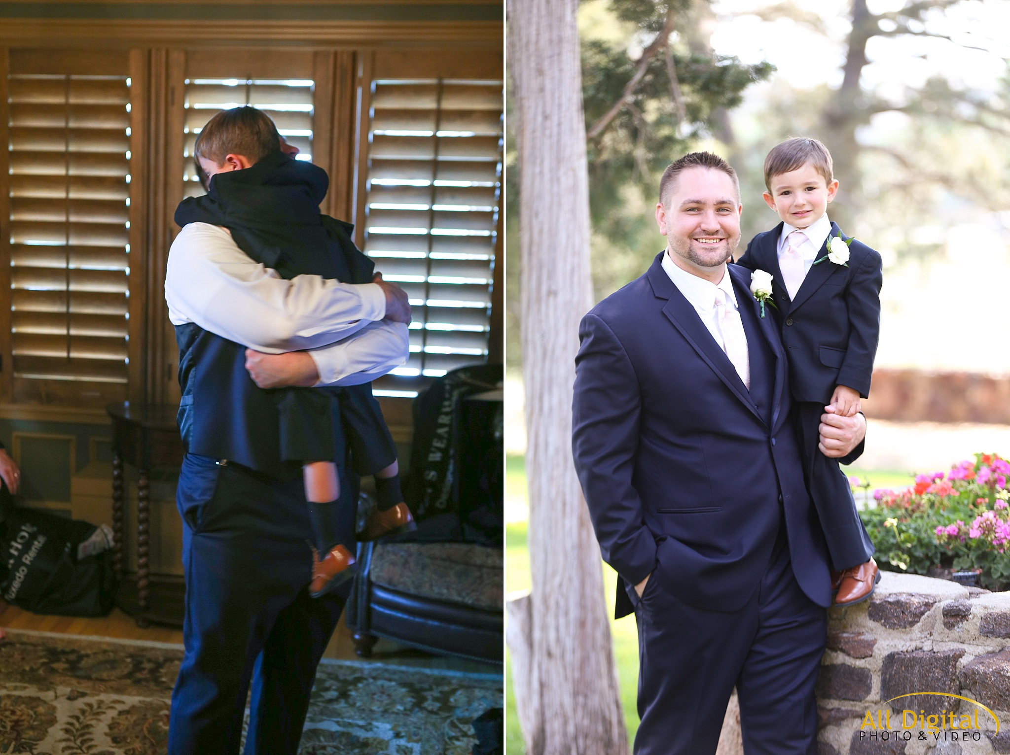 Groom & Ring Bearer Photos at Highlands Ranch Mansion