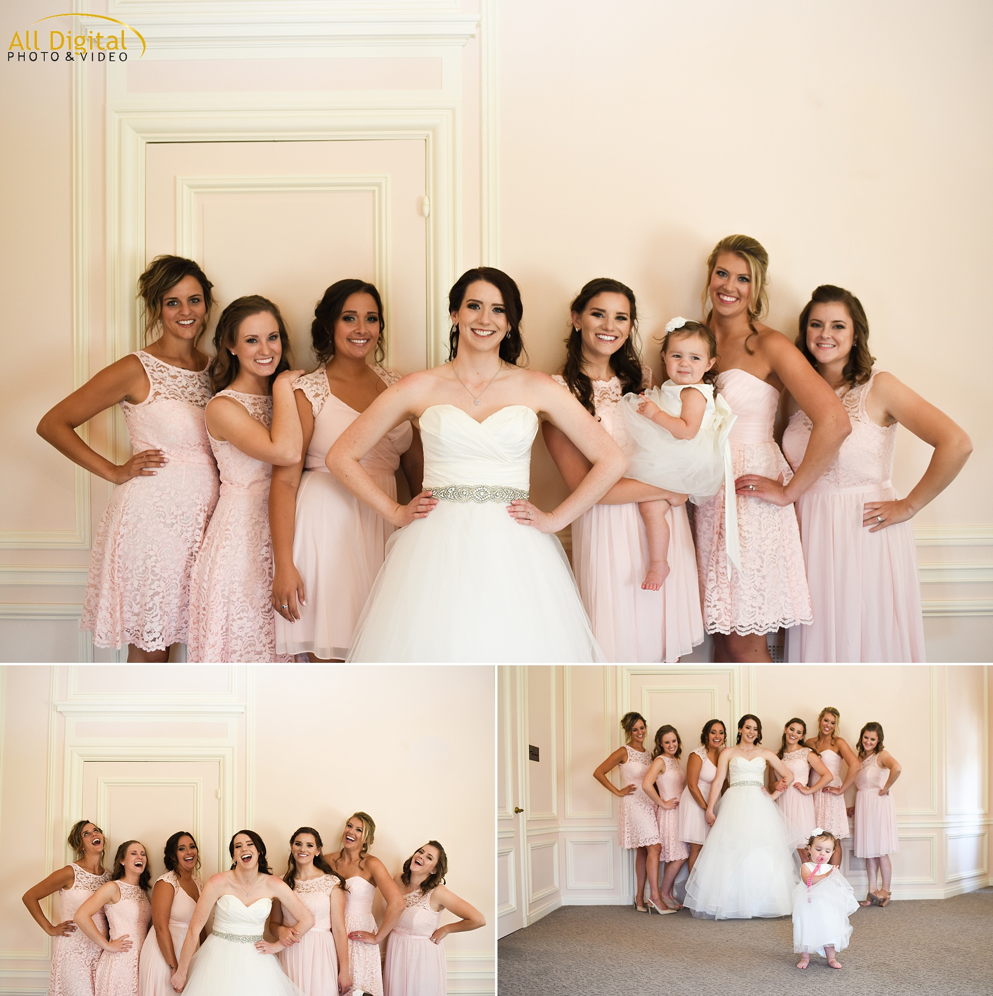 Bride & Bridesmaids Photos at the Highlands Ranch Mansion.