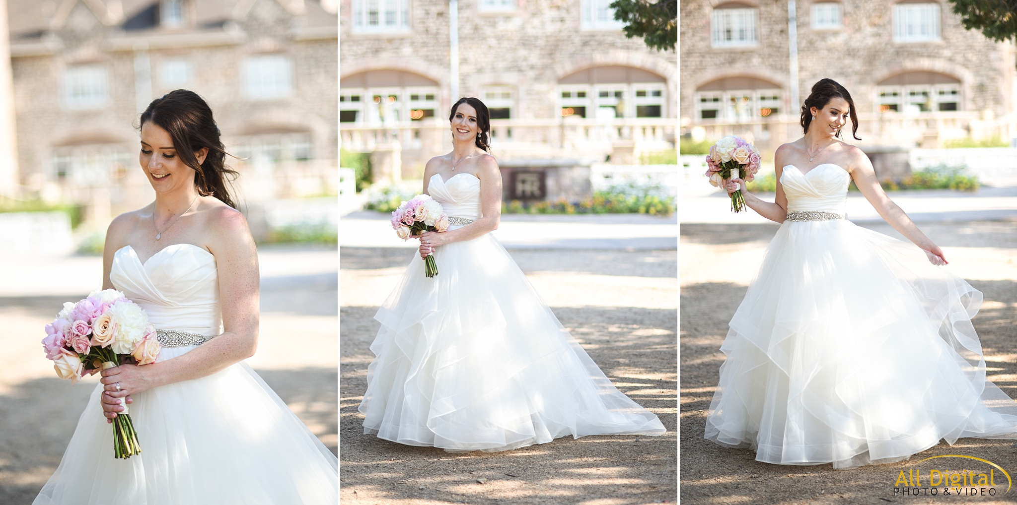 Bridal Portraits at Highlands Ranch Mansion.