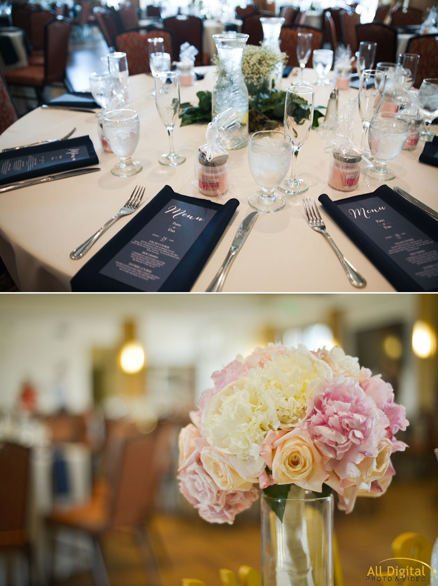 Reception Details at Highlands Ranch Mansion.