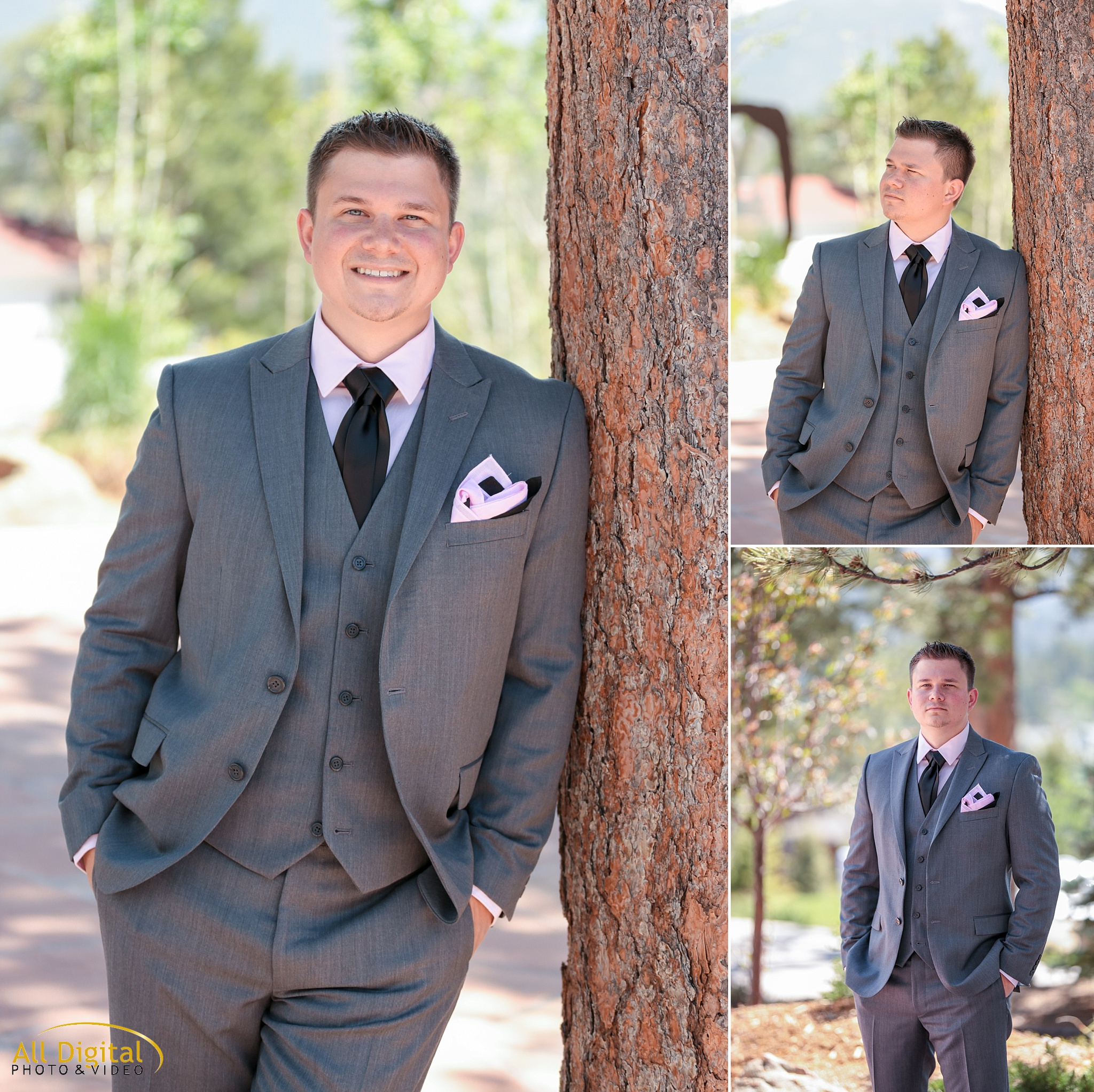 Groom portraits at the Stanley Hotel in Estes Park, Colorado
