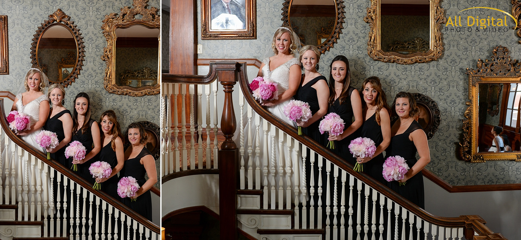 Bride & Bridesmaid portraits at the Stanley Hotel in Estes Park, Colorado