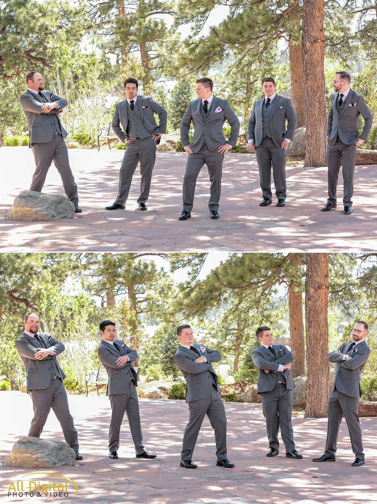 Groom & Groomsmen portraits at the Stanley Hotel in Estes Park, Colorado