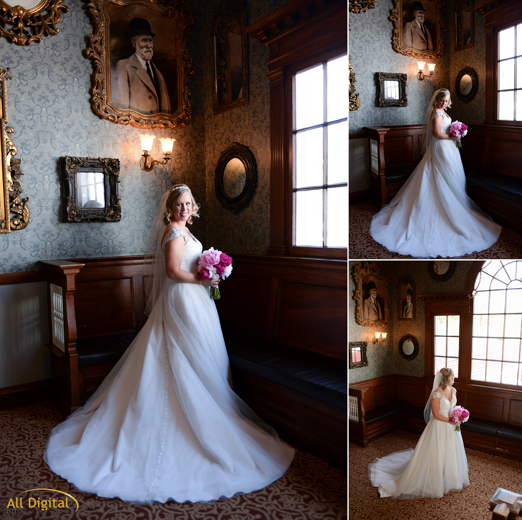 Alison's bridal portraits at the Stanley Hotel in Estes Park, Colorado