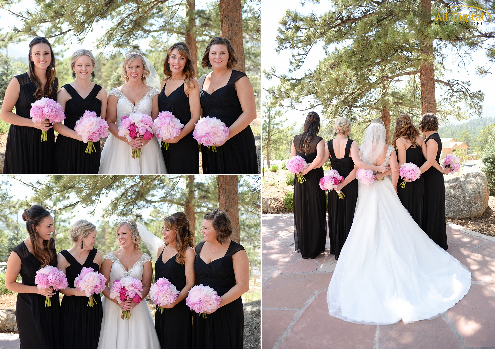 Alison & her bridesmaids at the Stanley Hotel in Estes Park, Colorado
