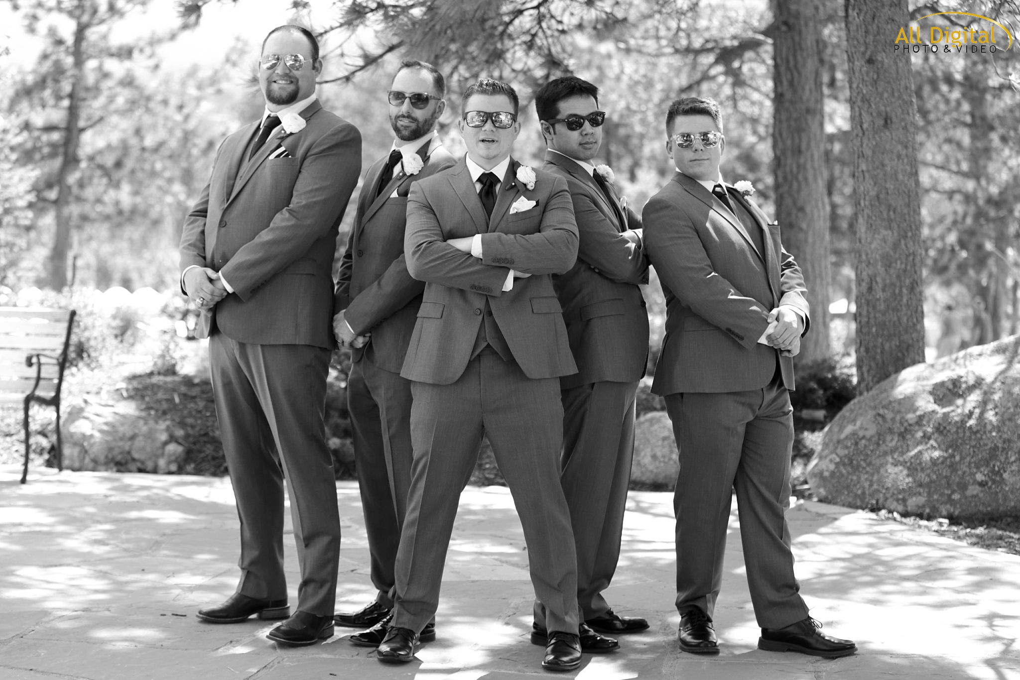 Brian & Groomsmen at the Stanley Hotel in Estes Park, Colorado