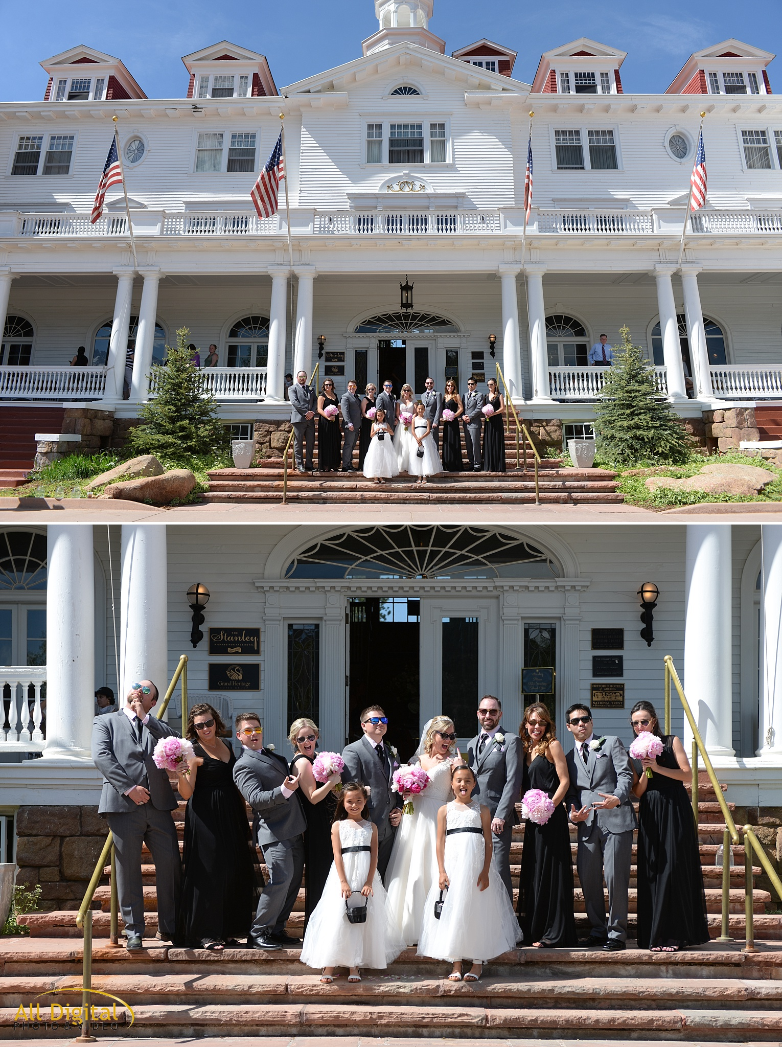 Bridal Party Photos at the Stanley Hotel in Estes Park, Colorado