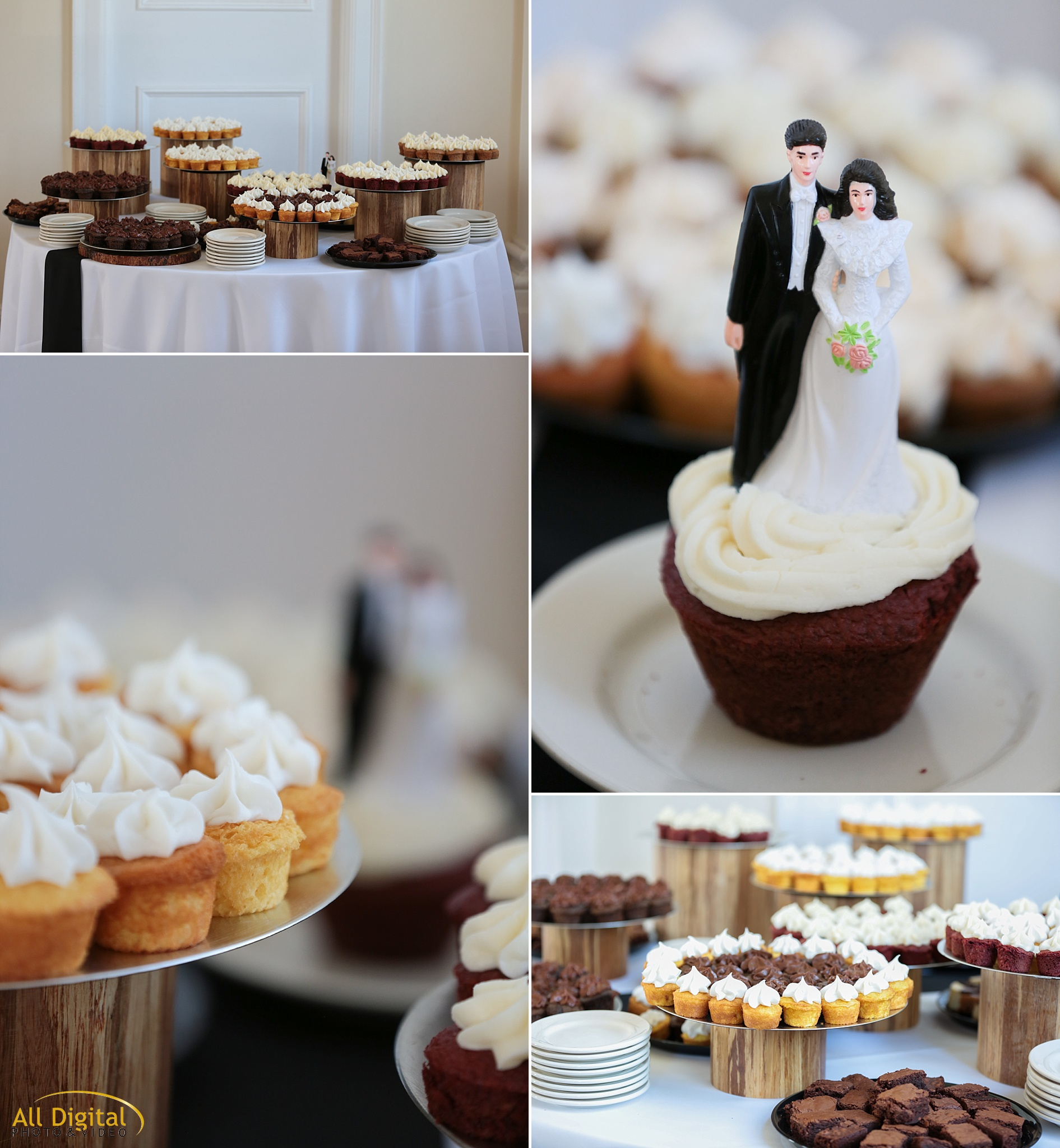 Wedding Cupcakes by YouWantPie at the Stanley Hotel in Estes Park, Colorado