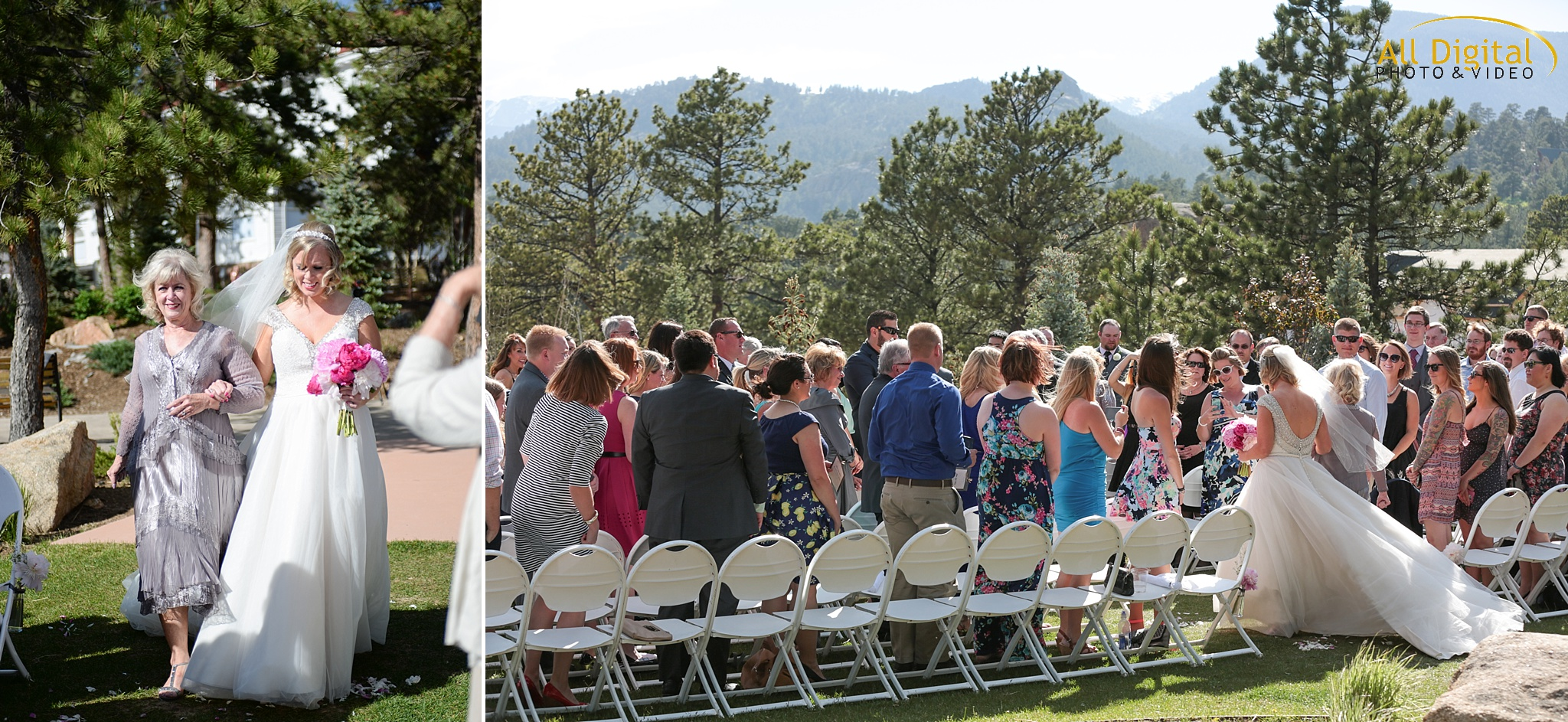 Wedding Ceremony at the Stanley Hotel in Estes Park, Colorado.