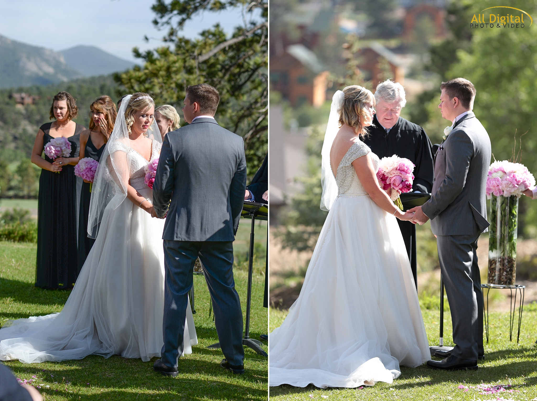 Alison & Brian's Wedding Ceremony at the Stanley Hotel in Estes Park, Colorado.