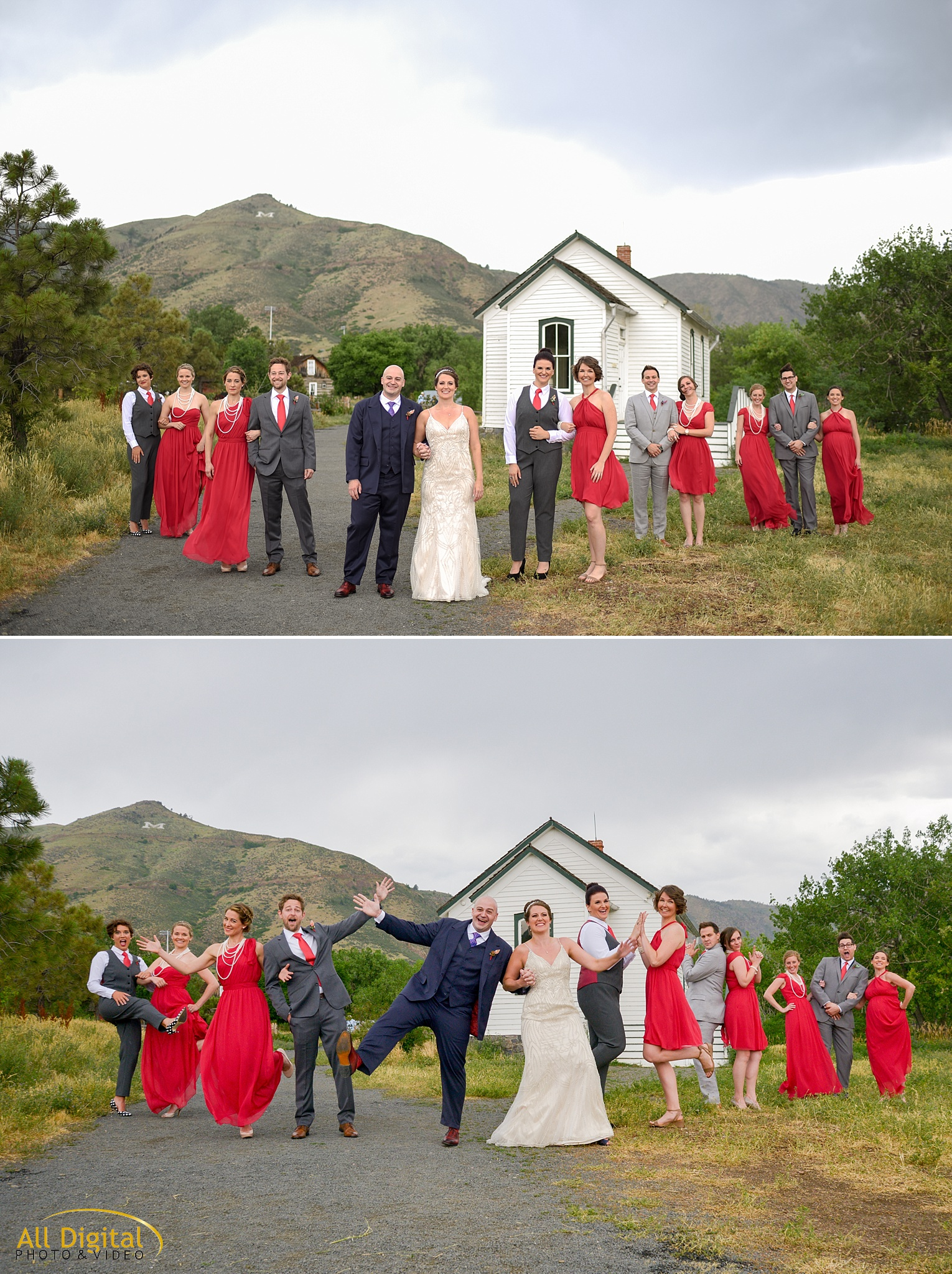 Bridal Party Photos at Clear Creek History Park photographed by All Digital Studios.