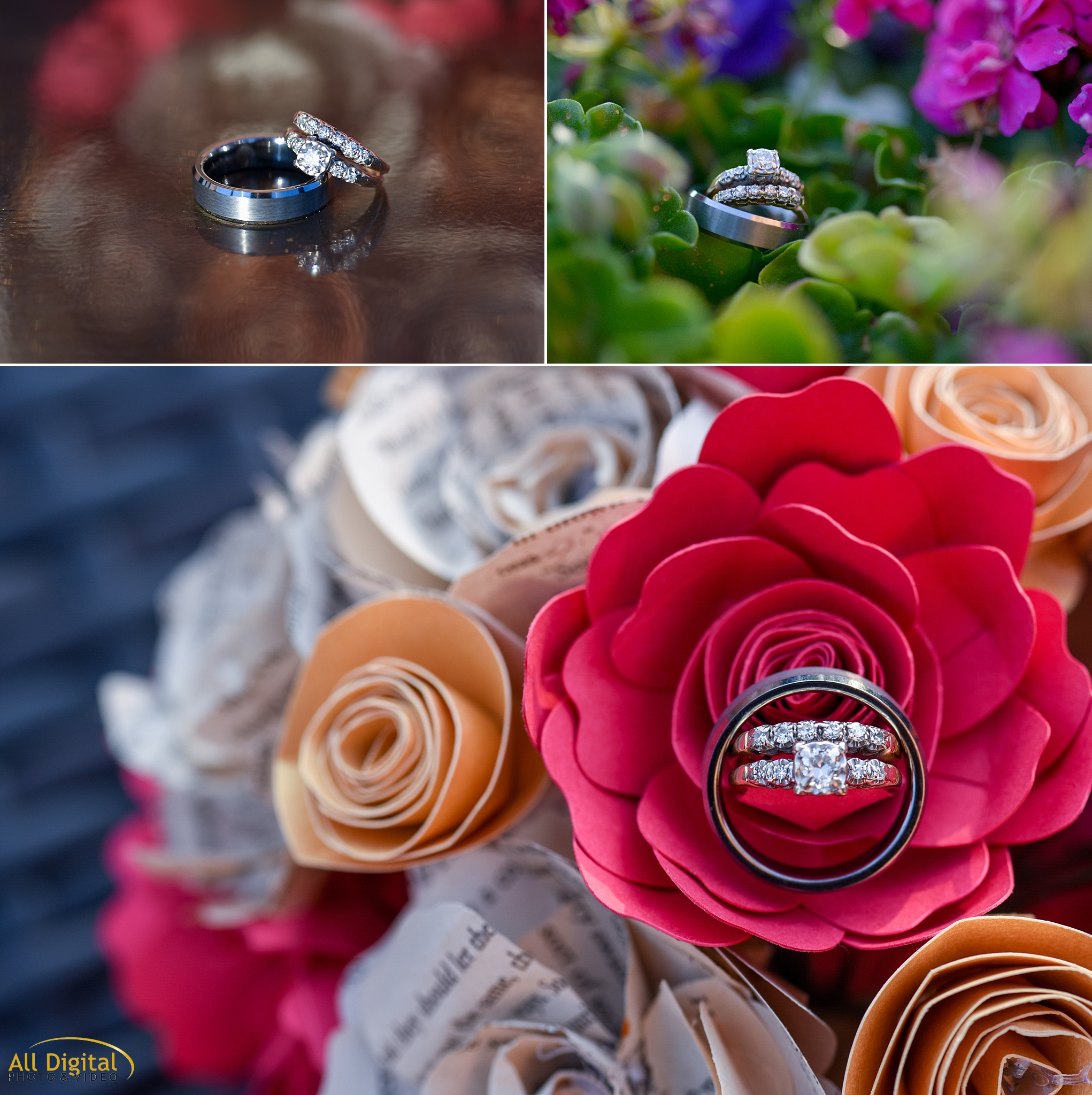 Ring Details at the Golden Hotel photographed by All Digital Studios.