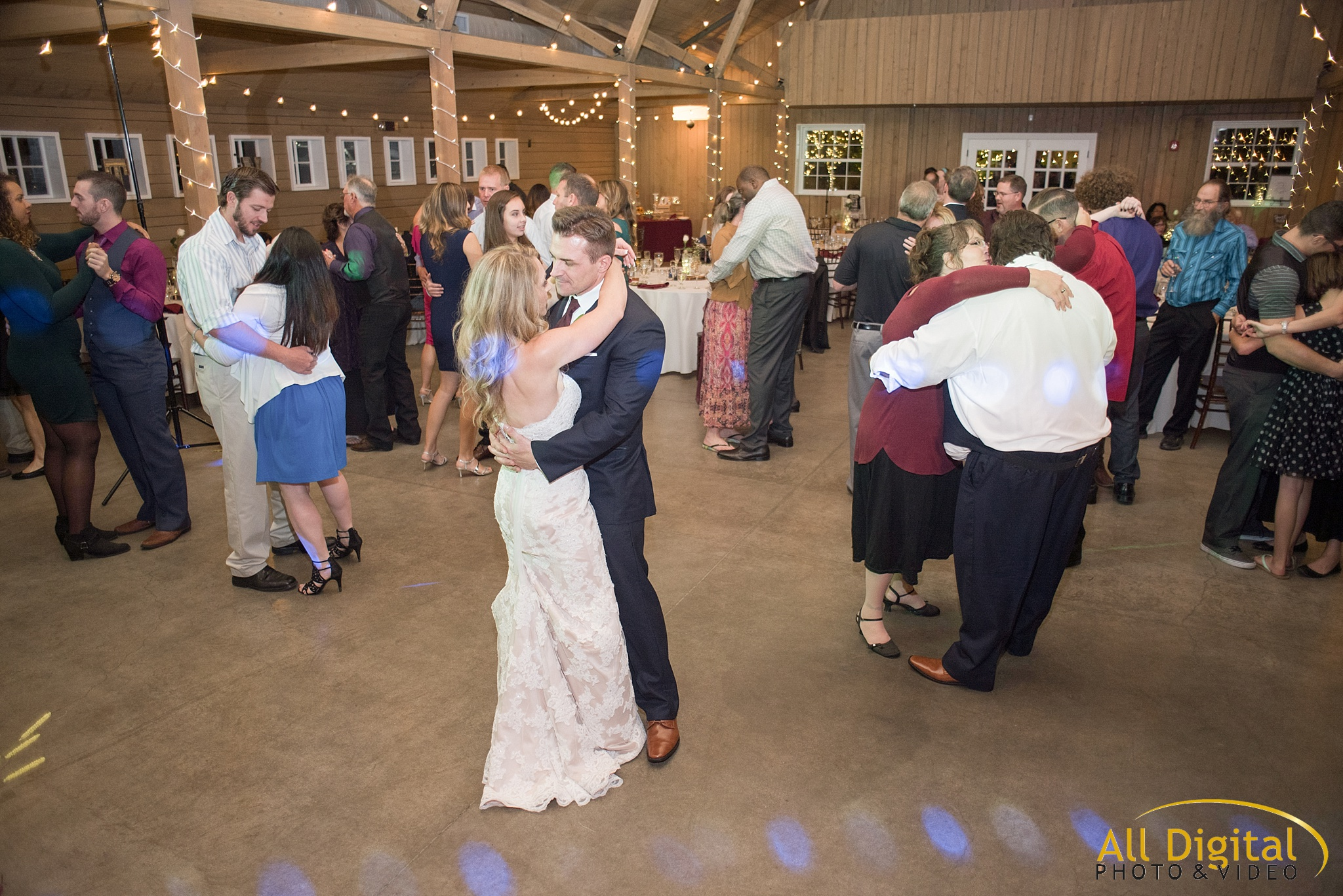 Dancing at the reception at the Barn at Raccoon Creek