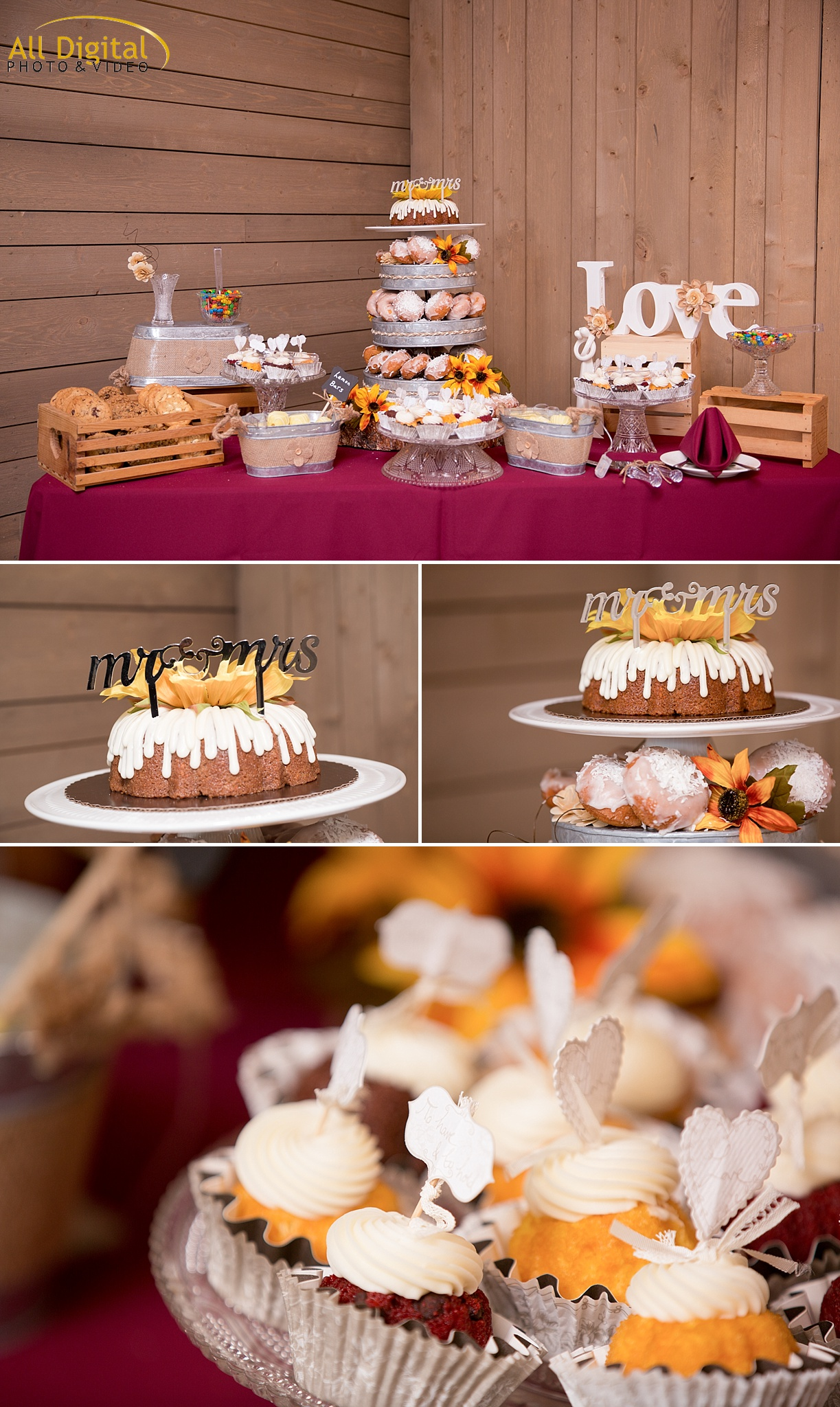 Tina & Nathan's Dessert Table at the Barn at Raccoon Creek