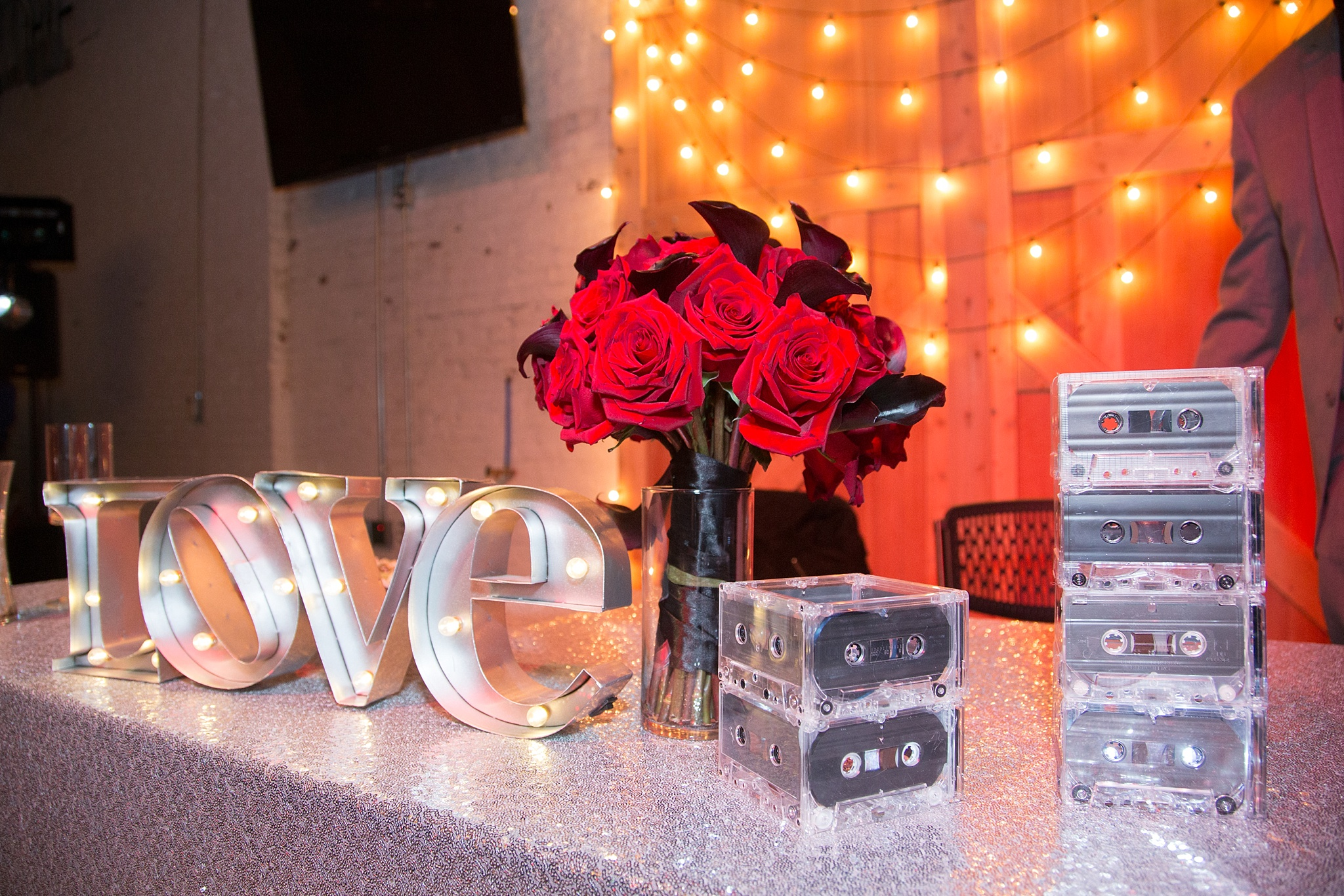 Alecia & Nick's Rock 'N Roll Themed Wedding at The Studios at Overland Crossing, The Studios at Overland Crossing, The Studios, Overland Crossing, Denver Wedding Photographer, Denver Wedding, Downtown Denver Wedding, Rock N Roll Wedding, Rock Wedding, sweetheart table, head table, wedding reception, reception details